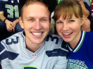 Seahawks with the little bro!